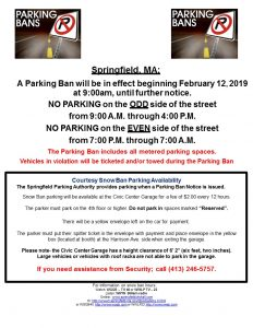 Snow Ban Parking News Releas 2-12-19